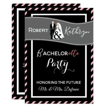 His/Hers Bachelor/Bachelorette Party Invitation - wedding party gifts equipment accessories ideas