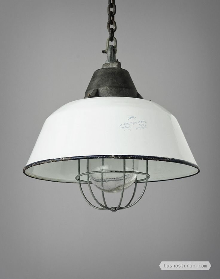 White Industrial Light - Busho Studio