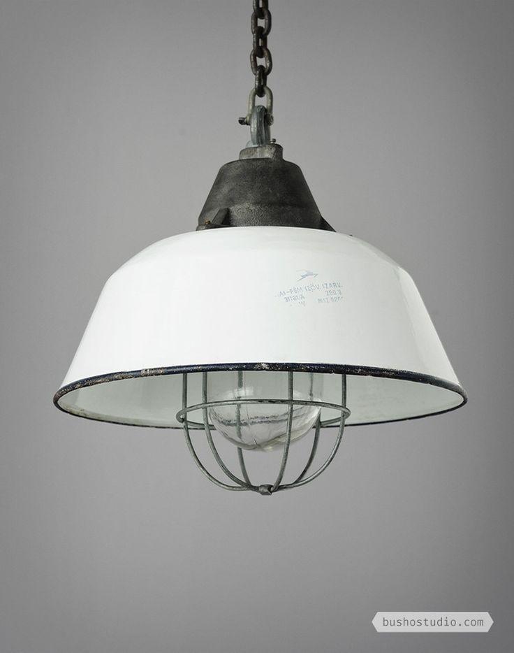 White Industrial Light - Busho Studio
