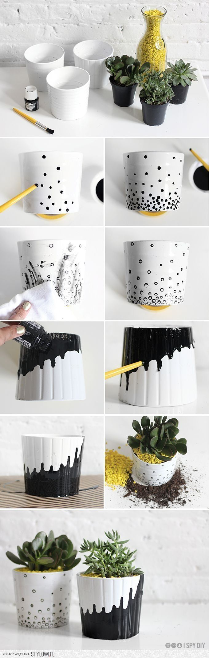 best my garden style images on pinterest decorated flower pots