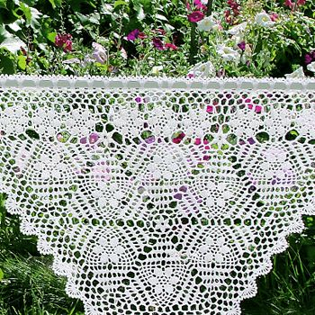 Шторки-zazdrostki «Фиалки», Cafe Curtain, crochet-curtains