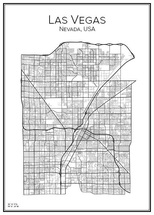 Las Vegas poster | Hand drawn posters