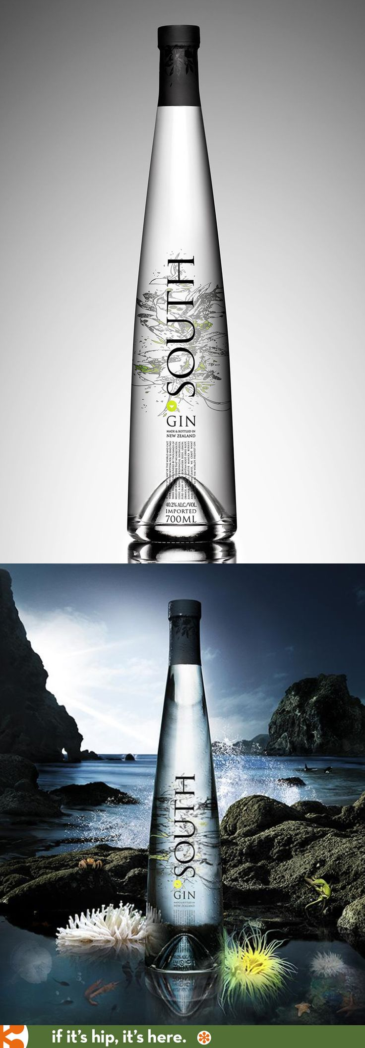 New Zealand's premium South Gin is in an award-winning bottle designed by One Design.