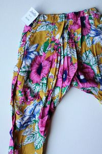 Image of Yellow Floral Harem Pants