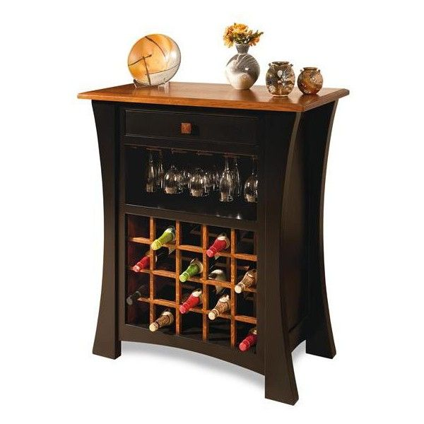 Amish Arts & Crafts Wine Cabinet (59,875 PHP) ❤ liked on Polyvore featuring home, furniture, storage & shelves, bar cabinets, gray furniture, tower, black wine storage cabinet, black bar cabinet and black tower