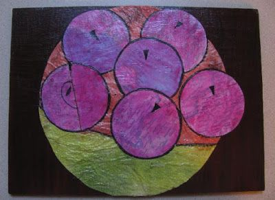 Apples - a simple collage. #mixedmedia #collage