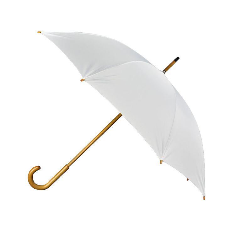 Paraply, Unisex, vit i gruppen BRÖLLOP / FÖR BRUD & BRUDGUM / Paraplyer hos Calligraphen i Munkfors AB (405)