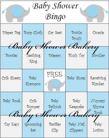 blue elephant baby shower game elephant baby shower bingo printable boy elephant theme baby