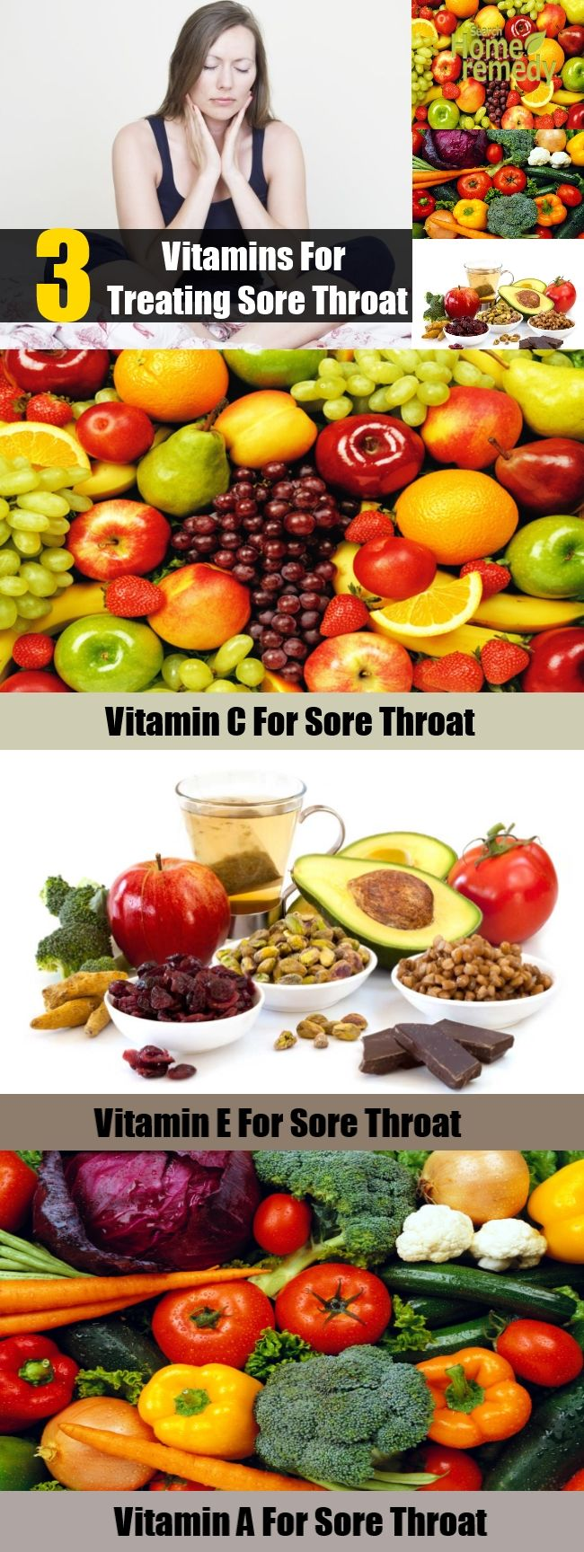 3 Vitamins for Treating Sore Throat