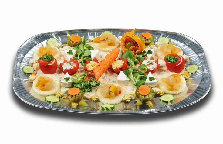 Vegetáriánus hidegtálak : Vegetáriánus hidegtál (40X60cm)
