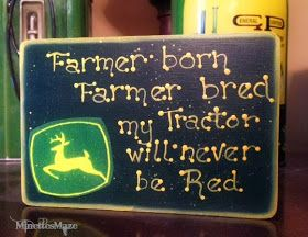 Farmer Born Bred My Tractor Will Always Be Red Boys John Deere