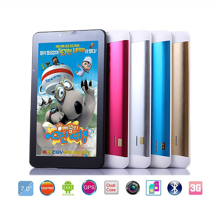 """Cheapest Dual SIM tablet 7""""android HD 1024*600 pxl 8GB 3G Phablet Dual Camera Kids Children Gamepad GPS Wifi Tablet pc 7 inch"""