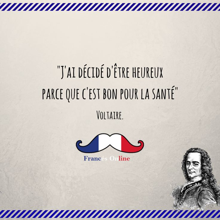 "Aujourd'hui, 21 novembre 1694, c'est l'anniversaire de la naissance de #Voltaire ! - Un día como hoy, pero en el 1694, nacía Voltaire! ""Decidí ser feliz porque es bueno para la salud"" - Today is the Voltaire's 323th birth anniversary! ""I decided to be happy because it's good for health"" - #Français #Francés #French #Language #Idioma #FLE #DELF #DALF #FrancésOnline #Idiomafrancés #Frenchlanguage #Hablarfrances #Speakfrench #Aprenderfrances # Learnfrench #Clasedefrances #Cursodefrancés…"