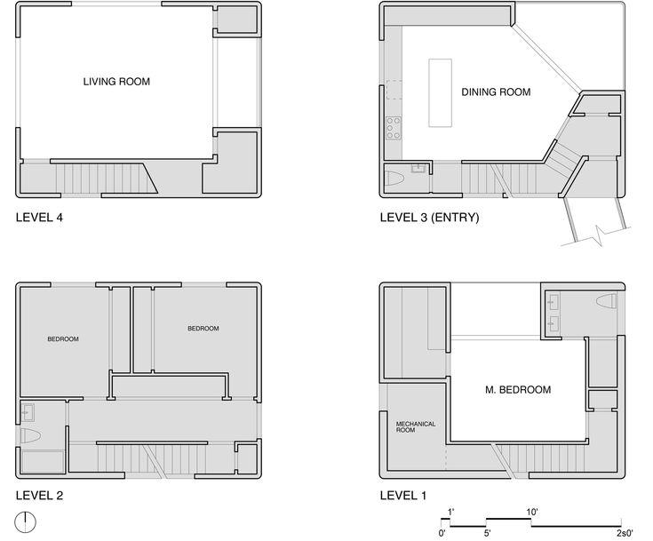 Tower House By Benjamin Waechter Architect   Humble Homes · Tower  HouseHouse Floor PlansArchitectural DrawingsHouse DesignTowersArchitectsBuilding  ...