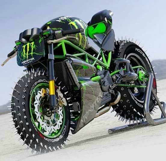 Monster Energydrinks Race Bike