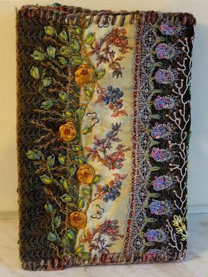 Okładka na zeszyt z haftem w stylu Facile- tył