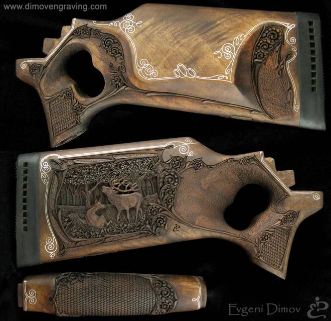 Gunstock relief carving gallery gunstocks evgeni dimov