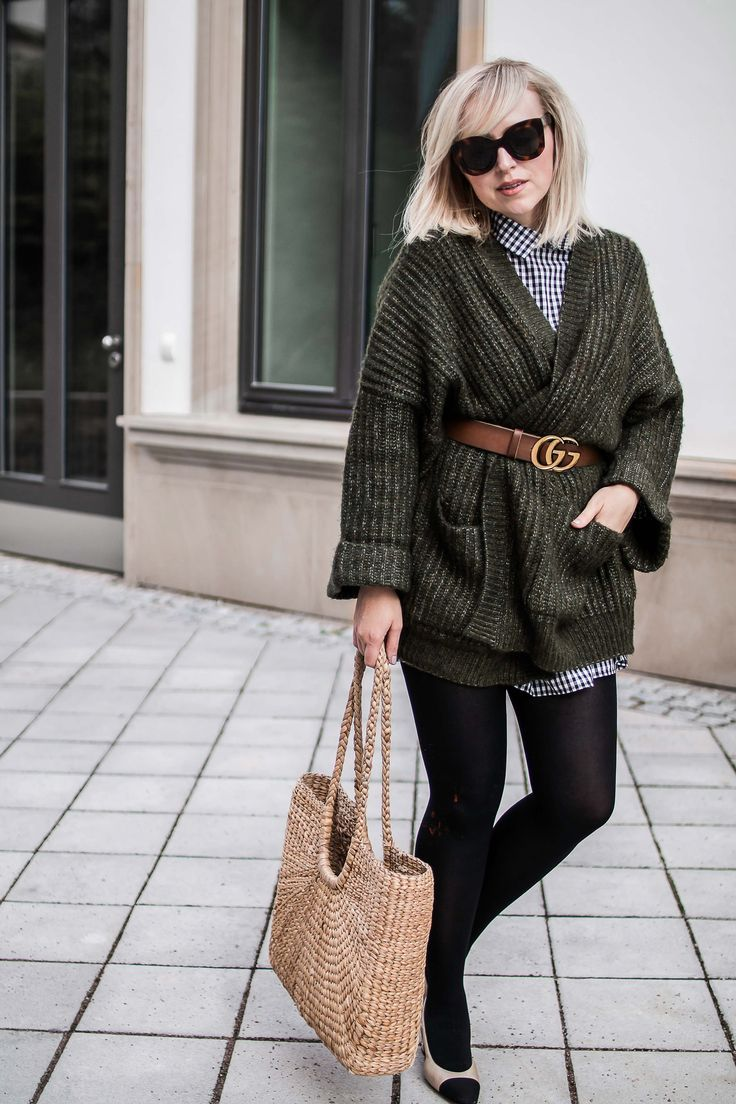 5a8c4e976 Autumn Look - The ZARA XXL Cardigan meets gucci | Gucci belt Outfits ...