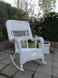Vintage Cane Rocking Chair