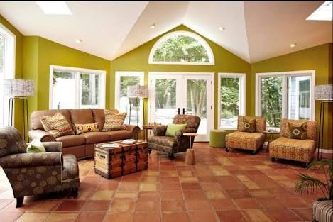 Resultado de imagen para homes with mexican clay floor tiles