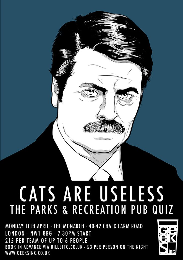 Parks And Recreation and Spaced Pub Quizzes | Geeks Inc