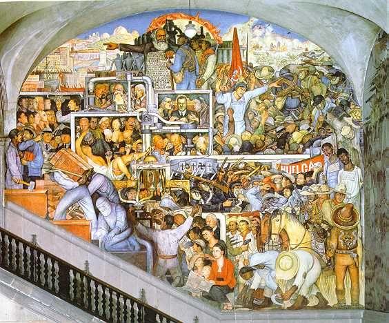 Diego Rivera  The History of Mexico:  Mexico Tomorrow  1935  National Palace,   Mexico City