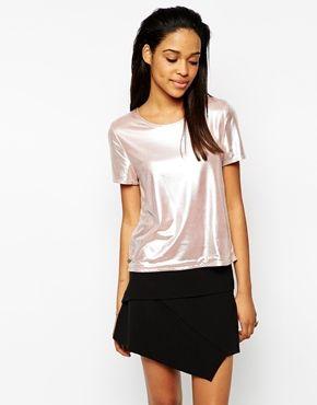 Rock & Religion Shimmer Metallic Short Sleeve Top