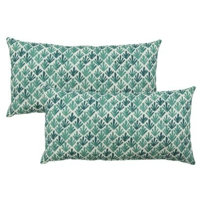 threshold 2piece outdoor lumbar pillow set in turquoise frnd available at target