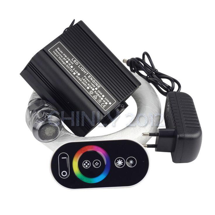 16W RGB touch remote LED Fiber optic light Star Ceiling Kit Lights 150pcs 0.75mm 2M for piscinas fiber used