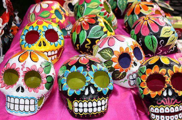 Day of the Dead Ceramic Skulls