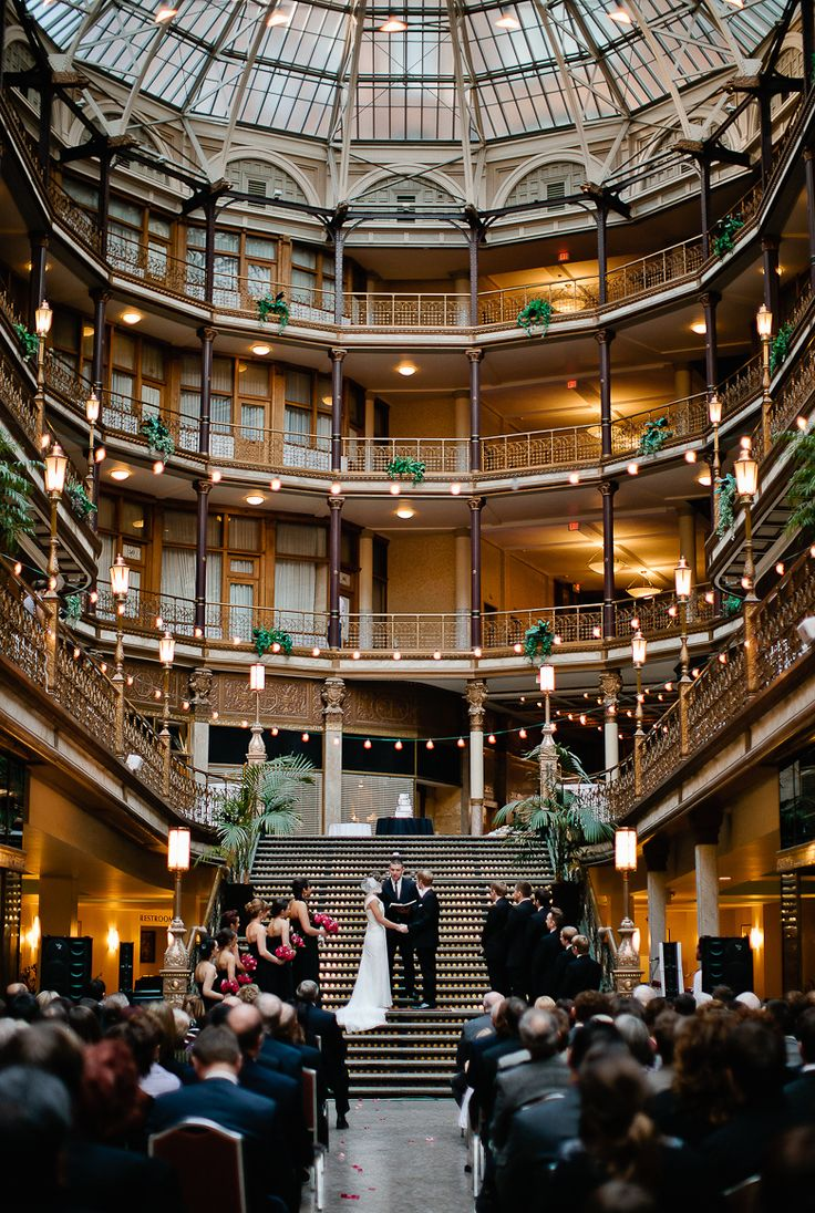 WHAT A BEAUTIFUL LOCATION :) Cleveland Arcade Wedding.