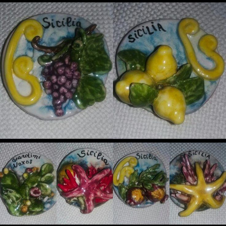 Magneti in ceramica artistica siciliana Bluarte Giardini Naxos Sicilia