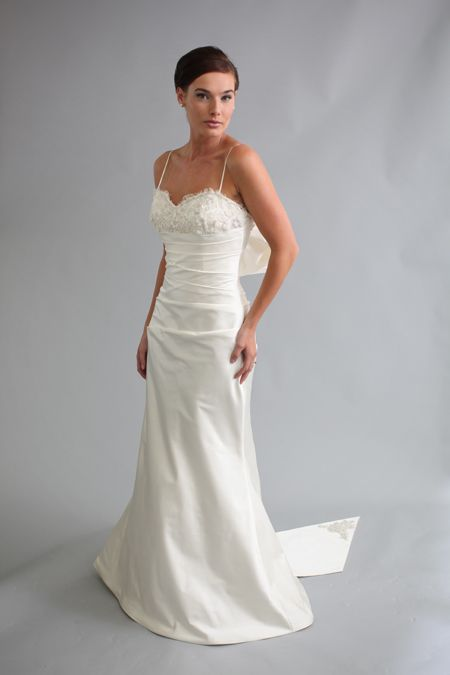 """Modern Trousseau """"Addison"""" sz 10 Ivory Retail: $3,040. on sale at Gale Morgan Gowns for $1,150. Please contact gale.morgan.gowns... to purchase."""