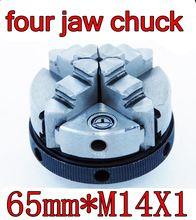 65mm * M14X1 Interne draad vierklauwplaat Hout draaibank chuck micro draaibank gereedschap De draaibank gereedschap Gratis verzending(China (Mainland))
