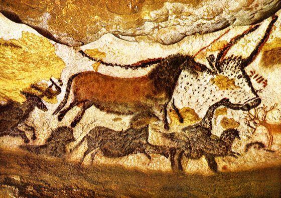 Peintures préhistoriques rupestres de la grotte de Lascaux - PEINTURE