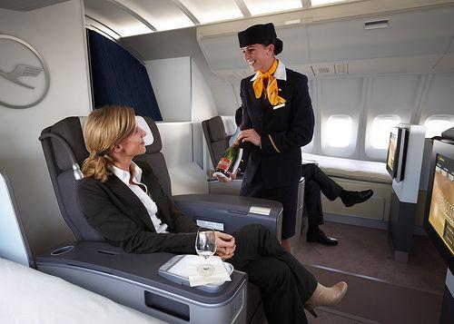 Lufthansa B747-400 first class upgrade