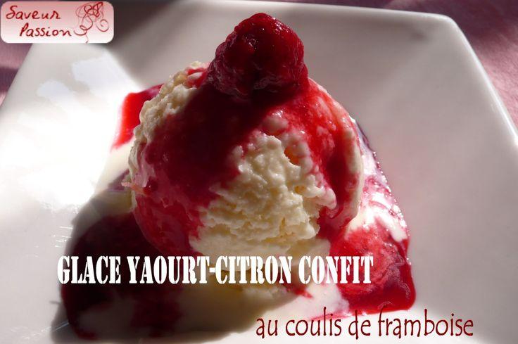 Glace au yaourt, huile d'olive et citron confit - SAVEUR PASSION