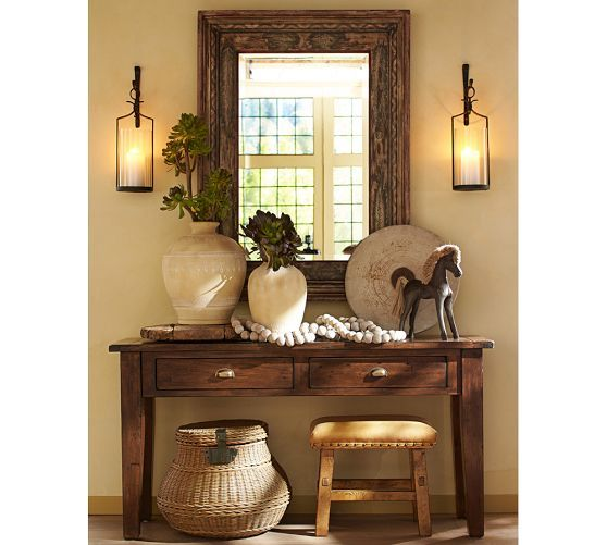 Perfect to go one on each side of the picture window in my dining room  Artisanal Candle Holders | Pottery Barn