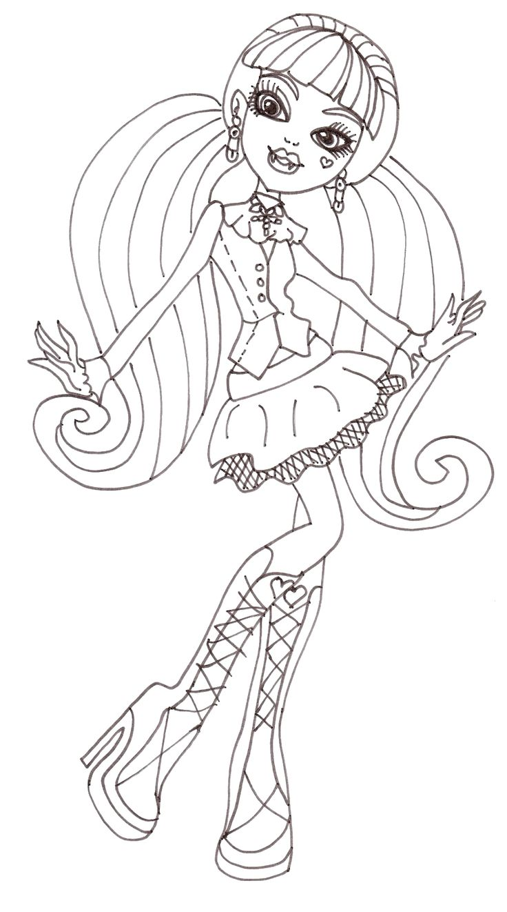 183 best Color: MonsterHigh images on Pinterest | Coloring sheets ...
