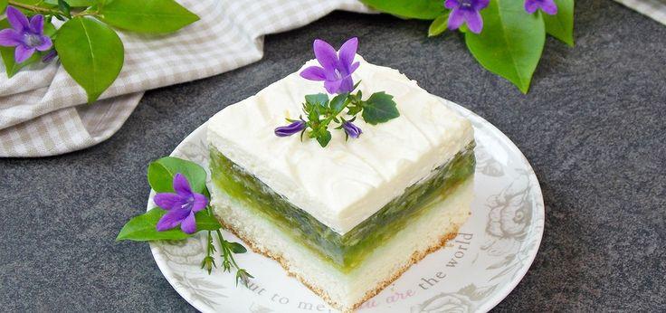 Orzeźwiające ciasto - Zielone jabłuszko - main