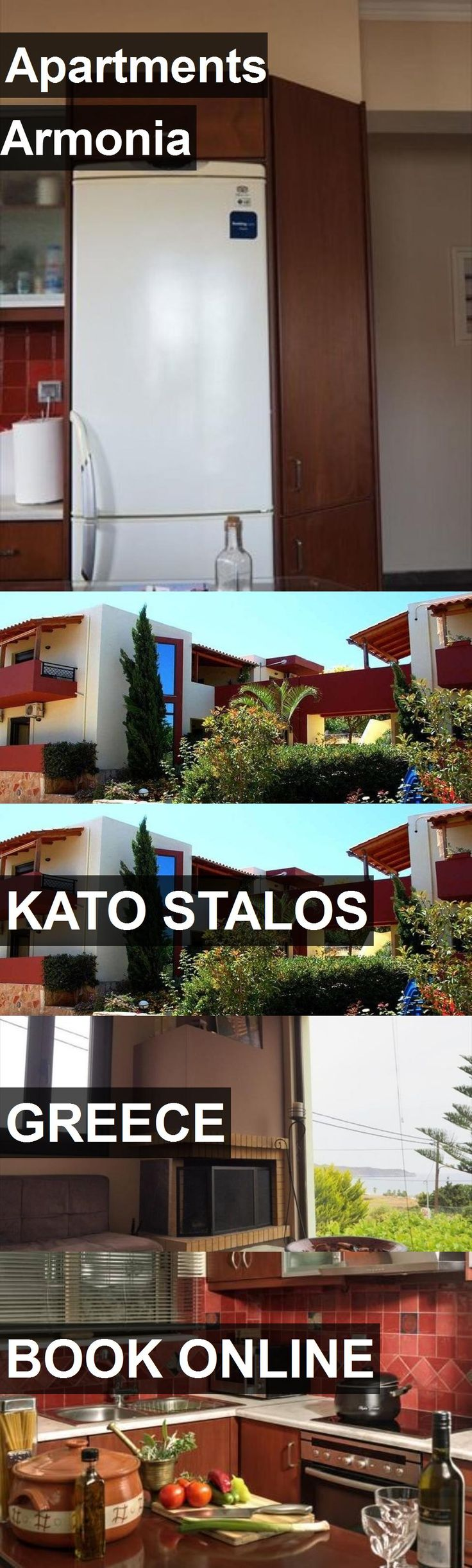 Apartments Armonia in Kato Stalos, Greece. For more information, photos, reviews and best prices please follow the link. #Greece #KatoStalos #travel #vacation #apartment
