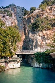 Saklikent Gorge - a funfilled day out for all the family. Trekking through the fresh, cold water is a welcome respite in the heat of the summer! #Kalkan #Turkey #Holiday