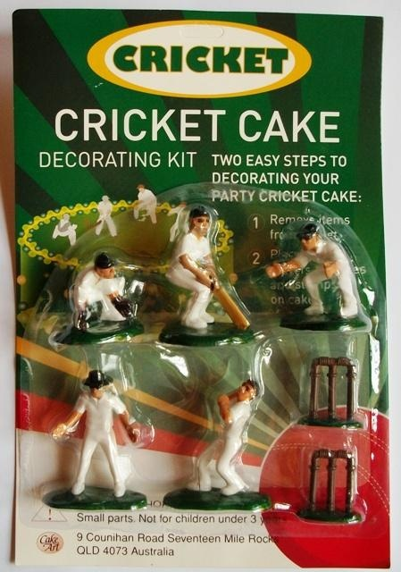 Cricket cake topper