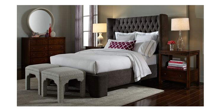 So much drama in one beautiful room with the harlowe bed for Harlowe bed