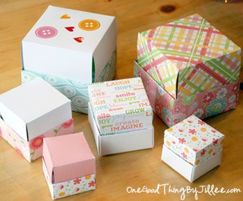 Homemade gift boxes. So simple that a craft-impaired person such as myself can do it...possibly...
