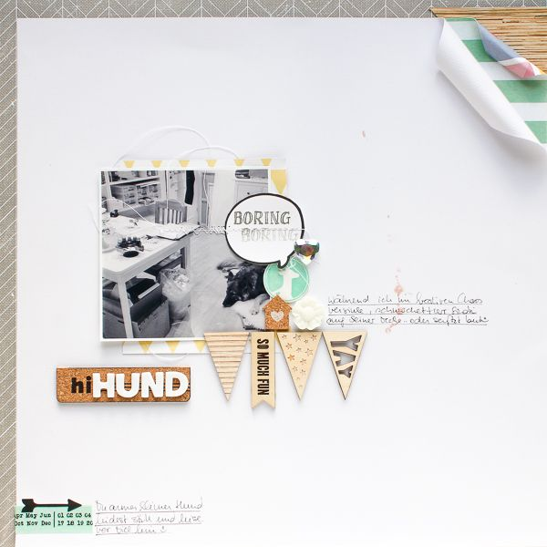 Janna Werner: 2 scrapbooking pages with the November OhDeerMe Kit by Freckled Fawn