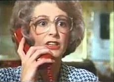 "Maureen Lipman in the 80s British Telecom ""you've got an ology"" advert"