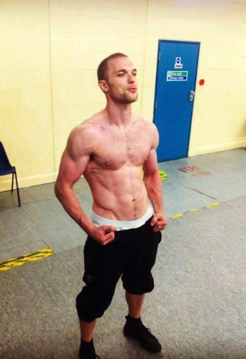 Ed Skrein shirtless body....
