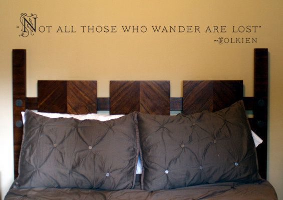 """J.R.R. Tolkien lord of the rings quote """"Not all those who wander are lost"""" Vinyl Wall Decal Sticker"""