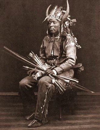 The Comanche bow was deadly within 60 yards, which gave the Comanche warrior an advantage over muzzle loading rifle. A Comanche could discharge a dozen arrows while a white man was loading a gun.